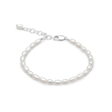 White Rice Freshwater Pearl Bracelet - Lierre Bridal Accessories