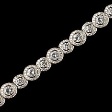 CZ Crystal Pave Circle Bracelet - Lierre Bridal Accessories