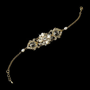 Stunning Gold Freshwater Pearl Bracelet - Lierre Bridal Accessories