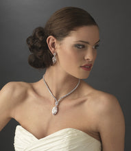 Stunning CZ Necklace and Earrings - Lierre Bridal Accessories