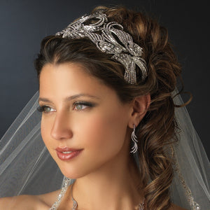 Royal Couture Tiara Headpiece - Lierre Bridal Accessories