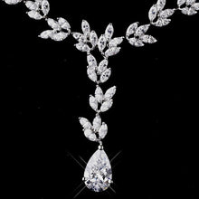 CZ Marquise Necklace - Lierre Bridal Accessories