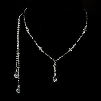 Swarovski Crystal Drop Necklace - Lierre Bridal Accessories