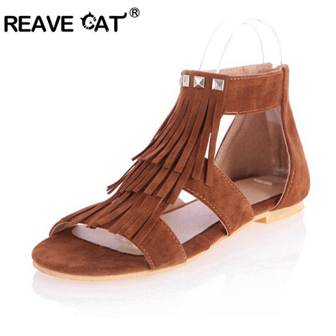 REAVE CAT Tassled Sandals