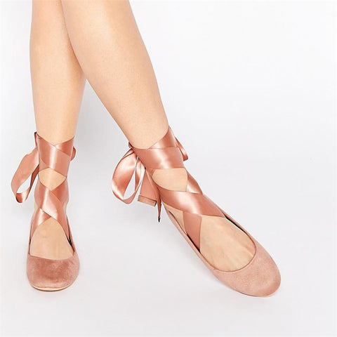 Soft Ballerina Ribbon Flats