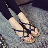 Sandals Women Flat Shoes Bandage Bohemia Leisure Lady Casual Sandals Peep-Toe Outdoor Chaussures Femme ete 2017 Fashion Shoes