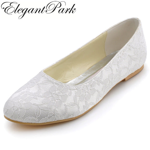Lace Bridal Ballerina Shoes