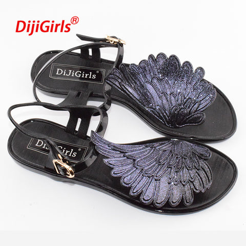 Winged Jelly Sandals