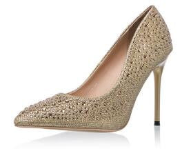 Sparkling High Heels Silver and Gold