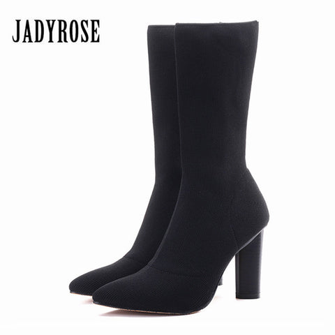 Jady Rose Black Ankle Boots