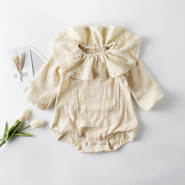 LACE COLLAR ROMPER