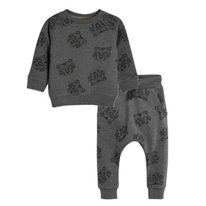 FERRET GREY SWEATSHIRT SET