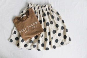 KOREAN DOTS  SKIRT