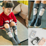 DARK GREY OWL KNEE SOCKS 0-6 years old