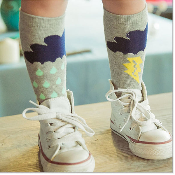 CHERRY KNEE SOCKS 0-6 years old