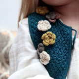 CROCHET FLOWERS CARDIGAN