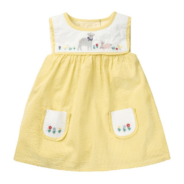 YELLOW LAMB DRESS
