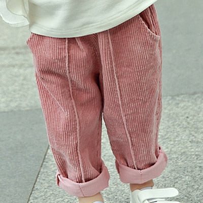 LOOSE WINTER CORDUROY PANTS