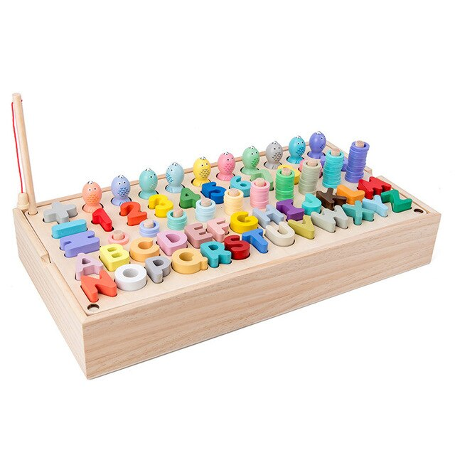 MONTESSORI MATCHING COUNTING FISHING TOY