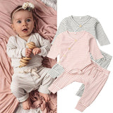 STRIPES LONG SLEEVES BABY SET