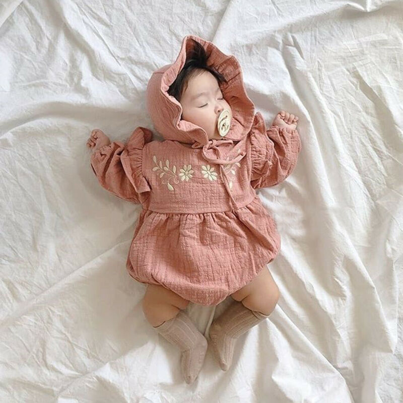 EMBROIDERED LONG SLEEVES ONESIE