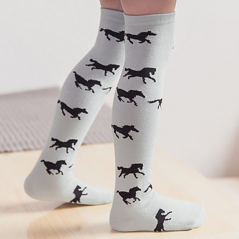 HORSES HIGH KNEE SOCKS  1-6Years