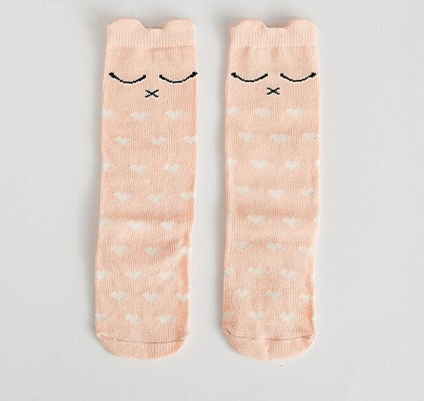 SLEEPY PINK KNEE SOCKS 0-6 years old