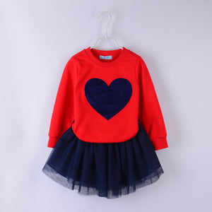 HEART CLOTHING SET GIRLS