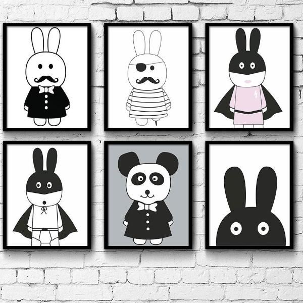 MR RABBIT WALL ART
