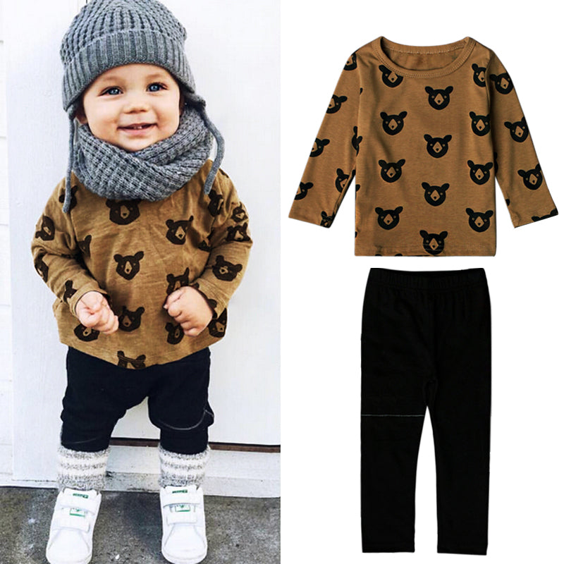 BROWN BEAR SET BABY BOY