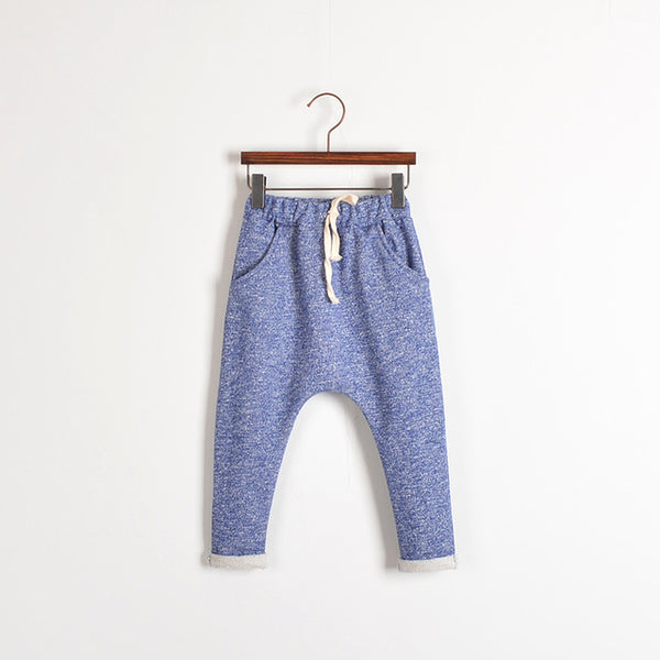 SOLID COLOR HAREM BOY PANTS