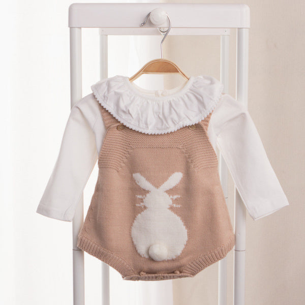 BABY RABBIT KNITTED ONESIE