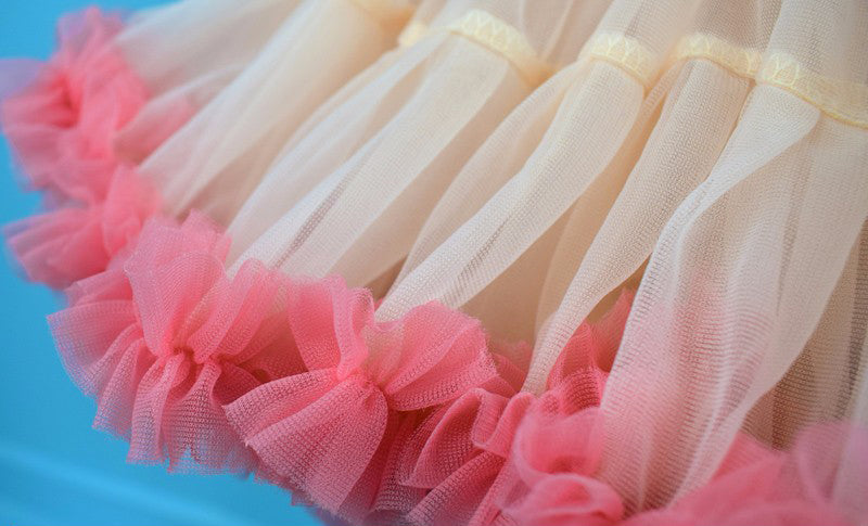 GREY & PINK DOUBLE LAYER TUTU SKIRT