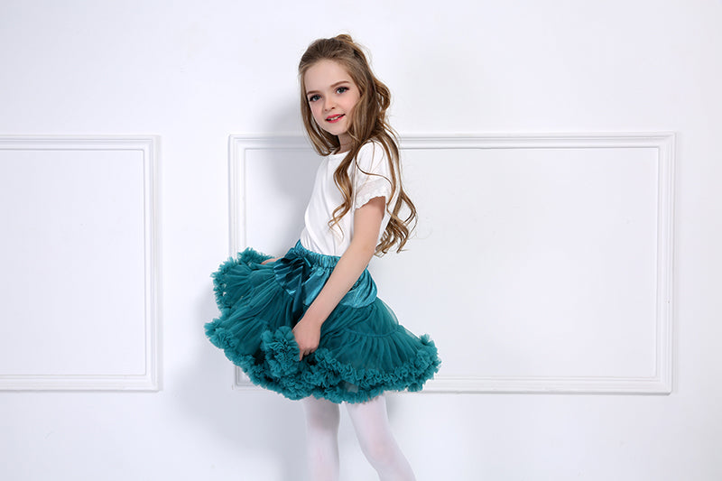 TURQUOISE DOUBLE LAYER TUTU SKIRT