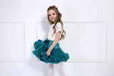 IVORY & CORAL DOUBLE LAYER TUTU SKIRT