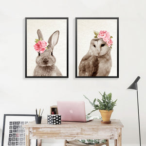 FLOWER ANIMALS WALL ART