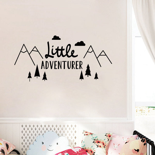 LITTLE ADVENTURER BABY ROOM WALL DECAL PRINT
