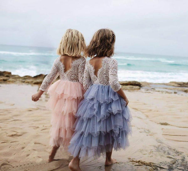 LONG TULLE & LACE PRINCESS DRESS