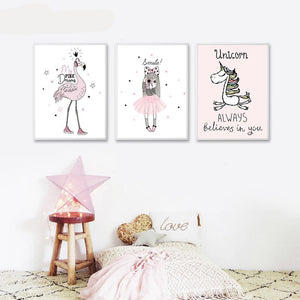 PINK SERIES POSTERS WALL ART