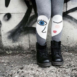 COOL  LOVE BLINKS GREY TIGHTS
