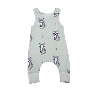 RACCOON SLEEVELESS ROMPER
