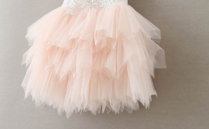 SHORT TULLE & LACE PRINCESS DRESS