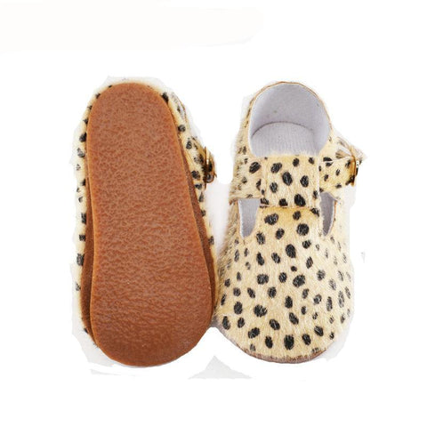LEOPARD HARD SOLE BABY SHOES