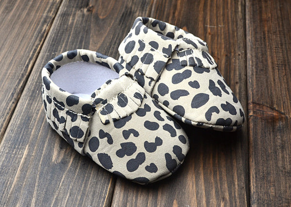 VEGAN LEATHER BABY MOCCASINS