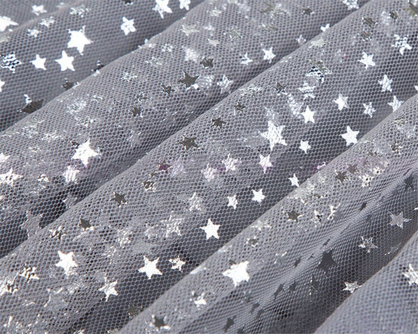 GREY STARS PARTY DRESS