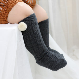 FASHIONABLE POM POM SOCKS FOR YOUR GIRL 0-4Y