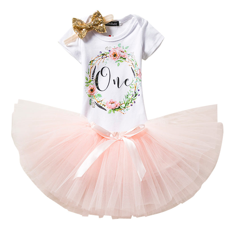 1st Birthday Baby Girl Party Dress Petit Loli Affordable Adorable