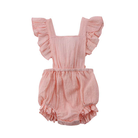 BACKLESS RUFFLE PLAYSUIT BABY GIRL 0-24M