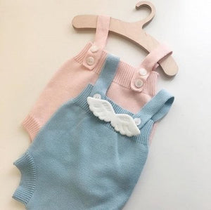 BABY GIRL PLAYSUIT ANGEL WINGS 0-2Y
