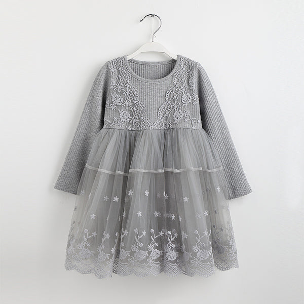 WINTER PRINCESS LONG SLEEVES DRESS